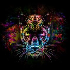 пантера на темном фоне