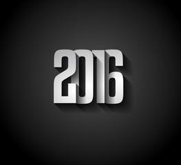 2016 New Year Background for modern seasonal card