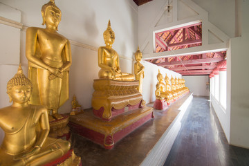Row of buddha sculpture
