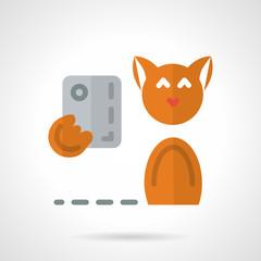 Pets selfie flat vector icon