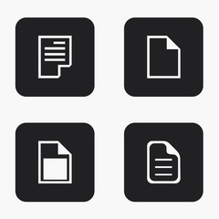Vector modern file icons set