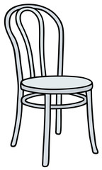 Classic white wooden chair / Hand drawing, vector