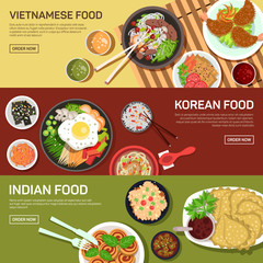 Asian street food web banner