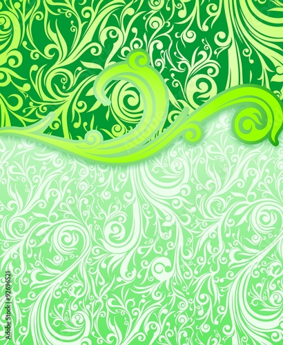 """""""cover Batik Abstract On Swirl Green"""" Stock Image And"""