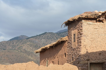 Berber Lehn Haus auf dem hohen Atlasgebirge, Marokko