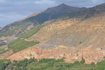Berber Dorf auf Hohe Atlasgebirge, Marokko