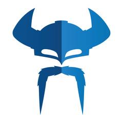 Viking Helmet Simple Silhouette