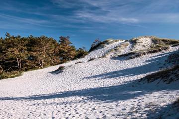 Weißer Sandstrand auf Bornholm
