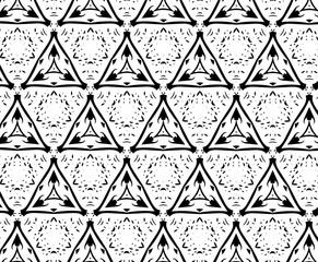 Чёрные и белые узоры. A