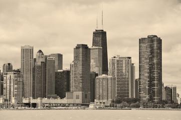 Wall Mural - Chicago city urban skyline