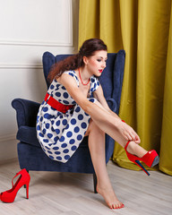 Pin Up Girl Dress shoes with high heels.