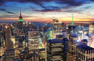 Fototapete - New York City sunset