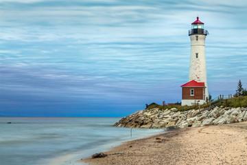 Fotobehang Vuurtoren Crips Point Lighthouse at Sundown