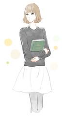 本を持った女の子