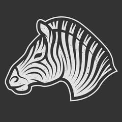 Zebra symbol for dark background.