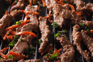 Korean cuisine: bulgogi of grilled macro. horizontal