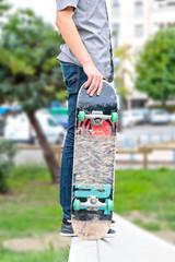 Skateboard and park