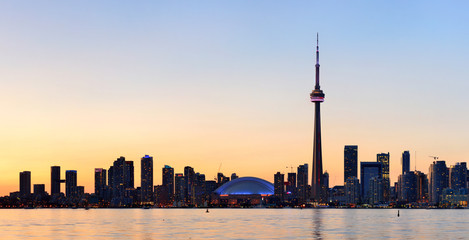 Wall Mural - Toronto silhouette panorama