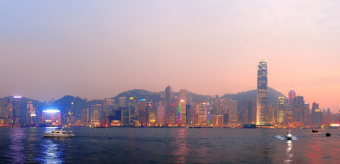 Fototapete - Hong Kong morning panorama