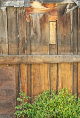 Old weathered plank wall