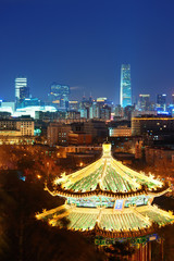 Fototapete - Beijing at night