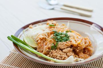 Thai style noodles, pad thai, Thailand's national dishes, stir-f