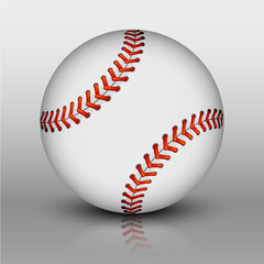 Vector baseball ball
