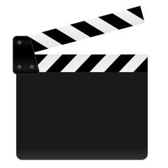 Filmklappe geöffnet und leer