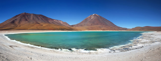 Green Lagoon (Laguna Verde), Altiplano, Bolivia