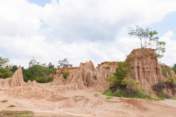Landscape canyon in Thailand ,Sao Din Na Noi in Sri Nan national