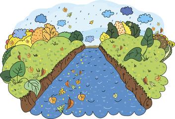 Осенняя река.