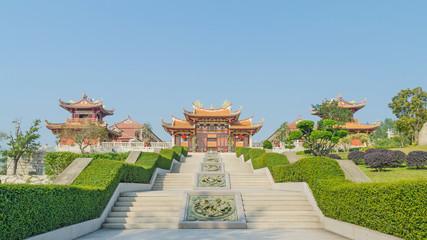 A-Ma cultural village and blue sky  in macau china
