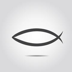 Christian Fish Symbol hand drawn