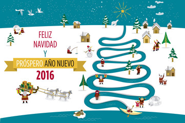 2016 Christmas Card with Eskimos Spanish