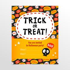 Funny Halloween invitation card