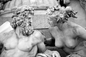 Pallas-Athena-Brunnen Fountain, Austrian Parliament in Vienna, A