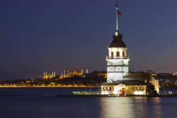 Maiden tower ( Kiz Kulesi) in Istanbul, Turkey