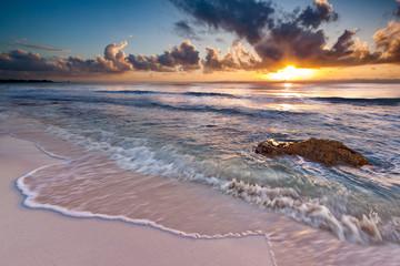 Printed bathroom splashbacks Caribbean Sunrise near Playa del Carmen, Riviera Maya, Mexico