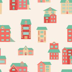 Vector flat houses
