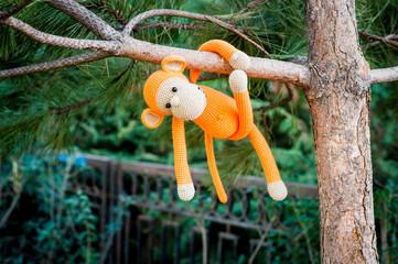 Soft toy - monkey on the tree
