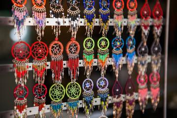 Hand made jewelry dream catcher earrings on market