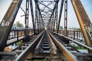 Black railway in ratcha-buri