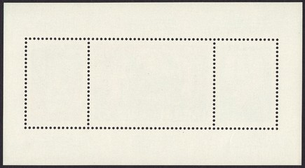 The reverse side of a postage stamp