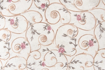 Fabric with floral pattern background