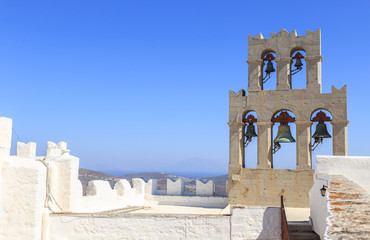 Holy Monastery of St. John the Theologian Patmos - The Monastery's roofs and belfries