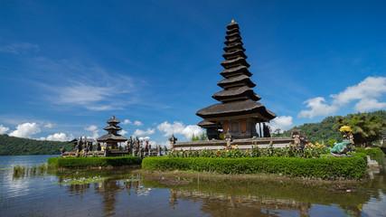 Ulun  Danu temple complex at Lake Bratan in Bedugul, Bali, Indonesia.
