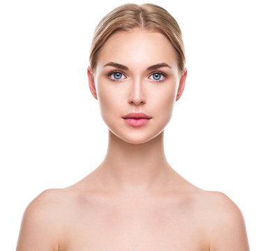 Beautiful spa model girl with perfect fresh clean skin