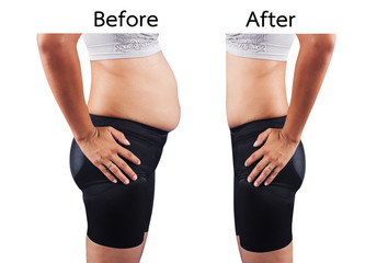 women body fat and thin after exercise and dieting