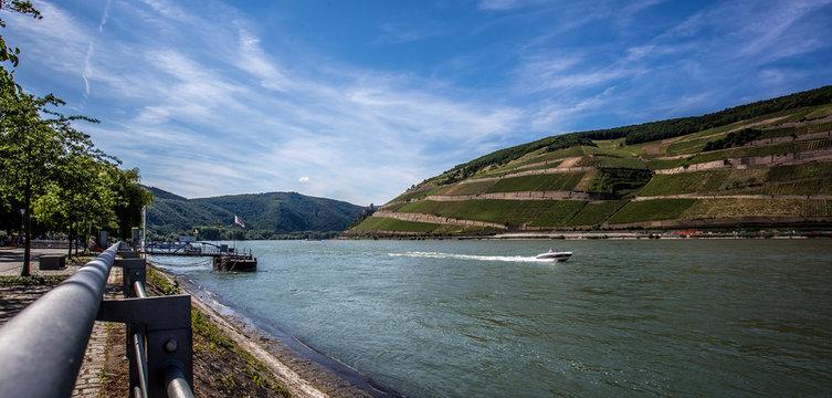 Sommertag am Rheinufer in Bingen