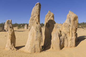 PINNACLES ON A SAND DUNE IN THE DESERT